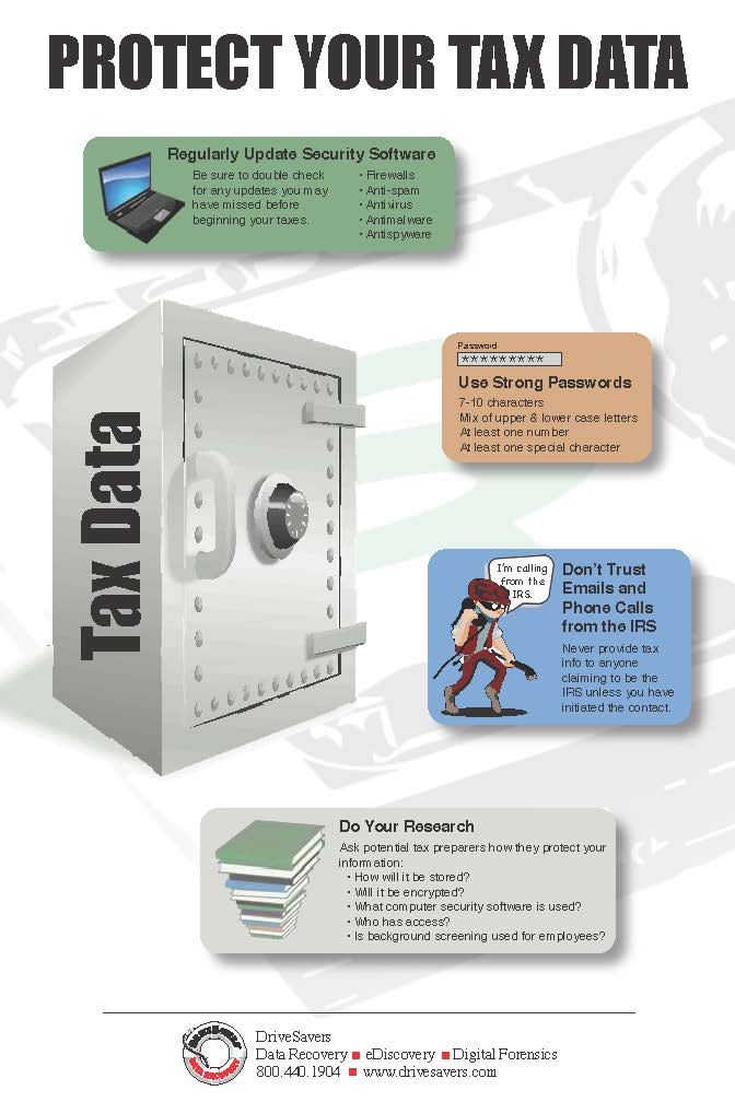 Protect Your Tax Data - Infographic
